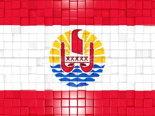 Piazza bandiera francese polinesia 3D Foto d'archivio © MikhailMishchenko