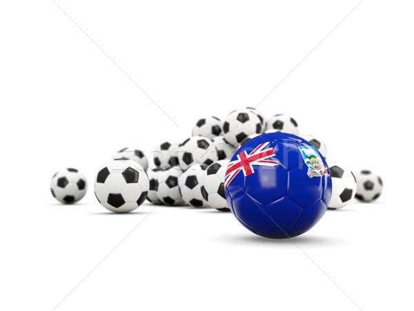 Futball zászló Falkland-szigetek izolált fehér 3d illusztráció Stock fotó © MikhailMishchenko