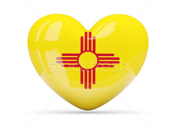 Flag of new mexico, US state heart icon Stock photo © MikhailMishchenko
