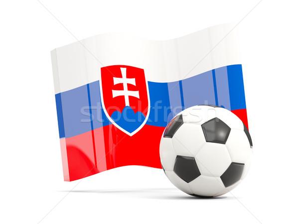 Futebol bandeira isolado branco ilustração 3d Foto stock © MikhailMishchenko