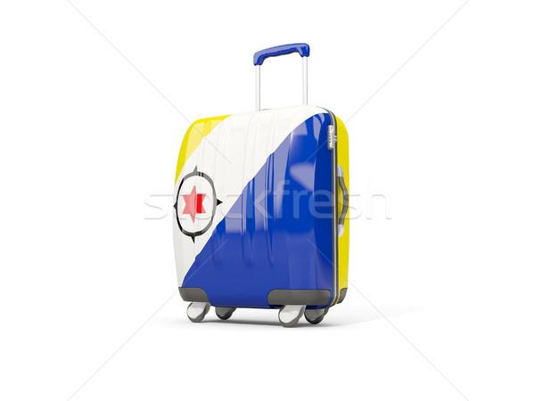 Luggage with flag of bonaire. Suitcase isolated on white Stock photo © MikhailMishchenko