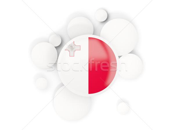 Stockfoto: Vlag · cirkels · patroon · geïsoleerd · witte · 3d · illustration