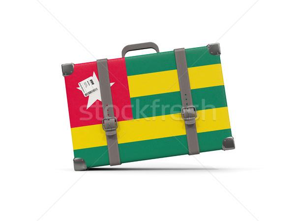 Equipaje bandera Togo maleta aislado blanco Foto stock © MikhailMishchenko