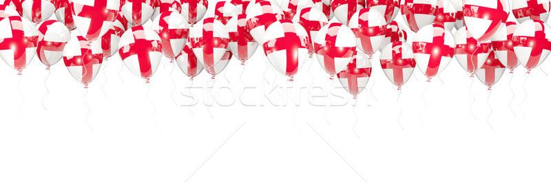 Ballons cadre pavillon Angleterre isolé blanche Photo stock © MikhailMishchenko