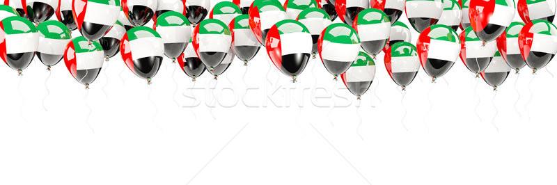 Balonlar çerçeve bayrak Birleşik Arap Emirlikleri yalıtılmış beyaz Stok fotoğraf © MikhailMishchenko