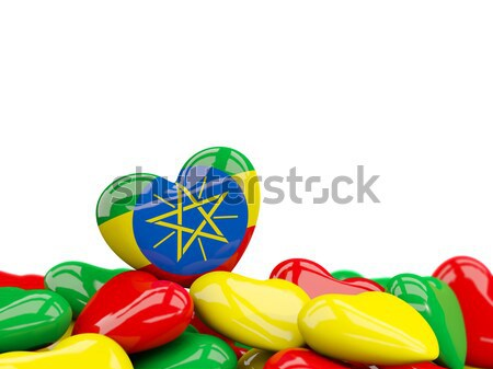 Heart with flag of portugal Stock photo © MikhailMishchenko