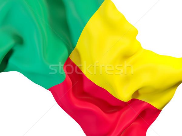 Bandiera Benin primo piano illustrazione 3d viaggio Foto d'archivio © MikhailMishchenko