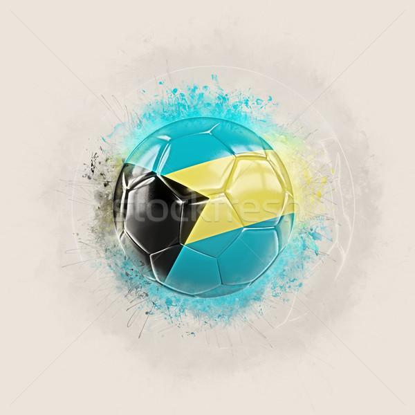 グランジ サッカー フラグ バハマ 3次元の図 世界 ストックフォト © MikhailMishchenko