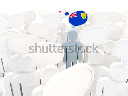Férfi zászló Belize tömeg 3d illusztráció felirat Stock fotó © MikhailMishchenko