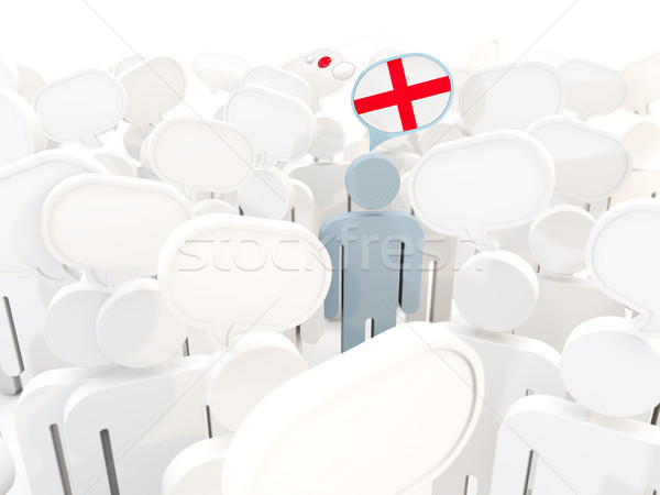 Man with flag of england in a crowd Stock photo © MikhailMishchenko