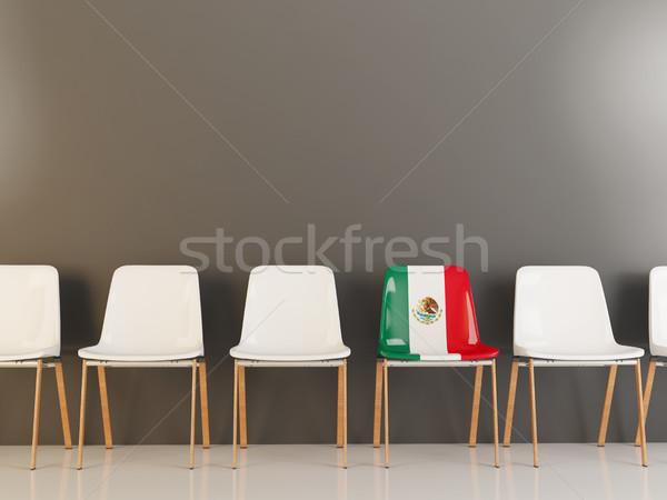 Silla bandera México blanco sillas Foto stock © MikhailMishchenko