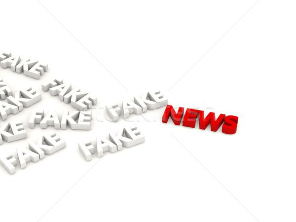 Red news letters with fake words Stock photo © MikhailMishchenko