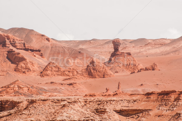 Red cliffs of Khermen Tsav canyon. Gobi deser Stock photo © MikhailMishchenko