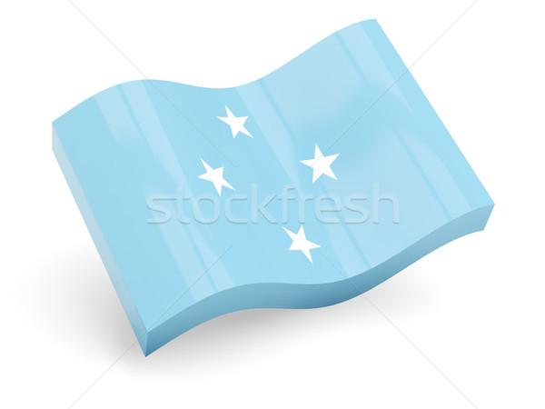 3D bandeira Micronésia isolado branco viajar Foto stock © MikhailMishchenko