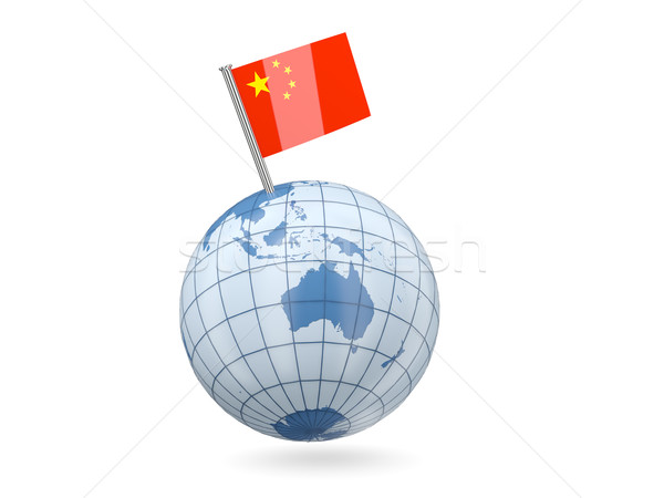Globe with flag of china Stock photo © MikhailMishchenko