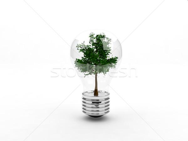 árvore dentro luz tecnologia verde Foto stock © MikhailMishchenko