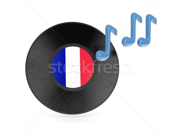 Vinyl disk with flag of france Stock photo © MikhailMishchenko