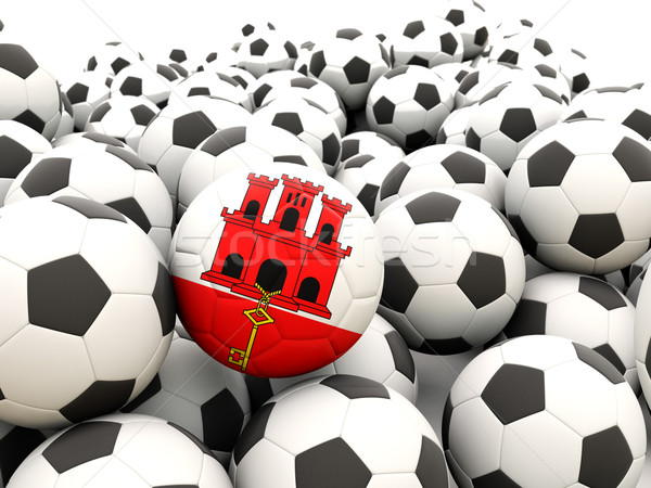 Piłka nożna banderą gibraltar lata Zdjęcia stock © MikhailMishchenko