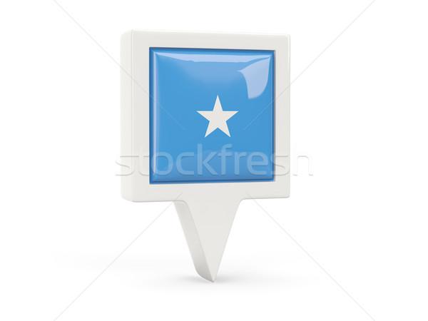 квадратный флаг икона Сомали изолированный белый Сток-фото © MikhailMishchenko