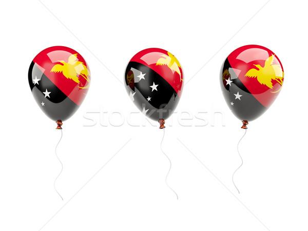 воздуха шаров флаг Папуа-Новая Гвинея изолированный белый Сток-фото © MikhailMishchenko