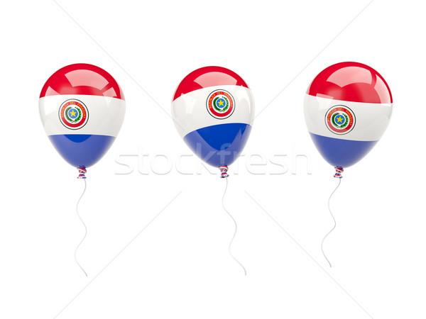 Ar balões bandeira Paraguai isolado branco Foto stock © MikhailMishchenko