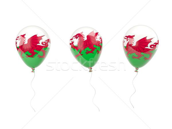 Aire globos bandera gales aislado blanco Foto stock © MikhailMishchenko