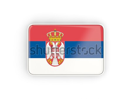 Postage stamp icon of serbia Stock photo © MikhailMishchenko
