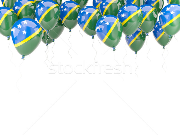 Balloon frame with flag of solomon islands Stock photo © MikhailMishchenko