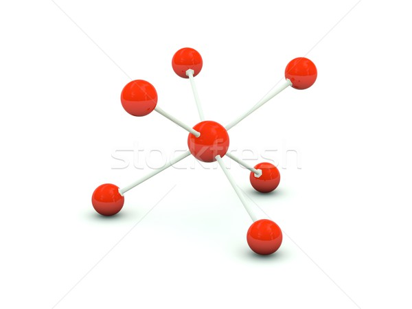 Stock photo: Molecule isolated on white