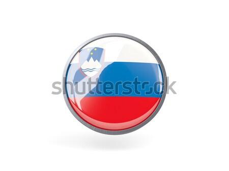 Round icon with flag of luxembourg Stock photo © MikhailMishchenko