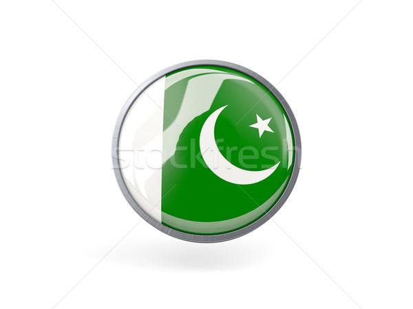Round icon with flag of pakistan Stock photo © MikhailMishchenko