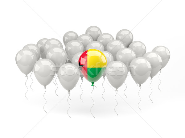воздуха шаров флаг Гвинея изолированный белый Сток-фото © MikhailMishchenko