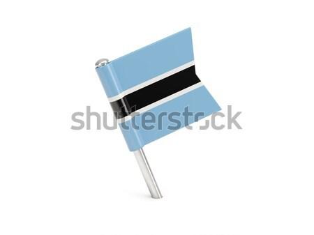 Banderą pin Botswana odizolowany biały świat Zdjęcia stock © MikhailMishchenko