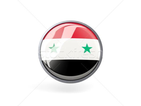Icon vlag Syrië metaal frame reizen Stockfoto © MikhailMishchenko