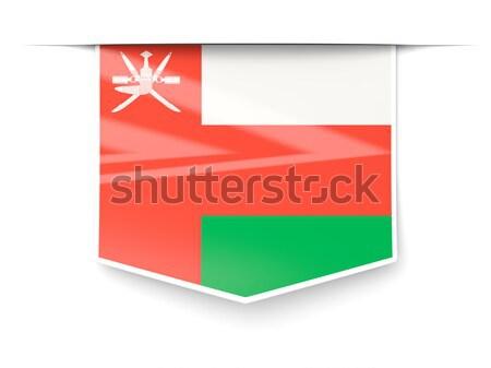 Bayrak etiket Umman yalıtılmış beyaz dünya Stok fotoğraf © MikhailMishchenko