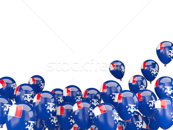 Flying balloons with flag of french southern territories Stock photo © MikhailMishchenko