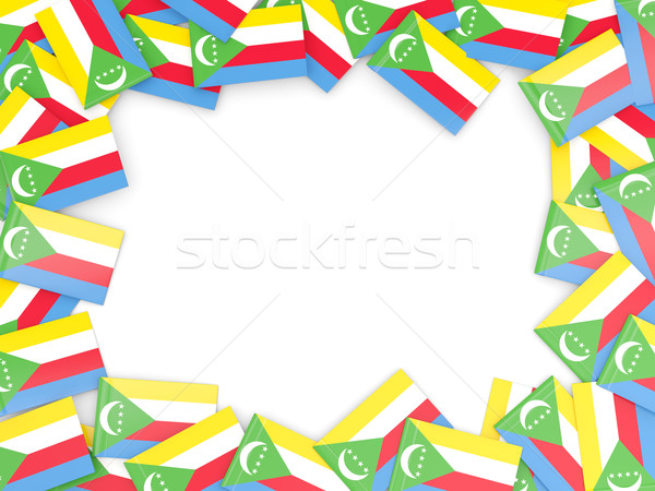 Frame with flag of comoros Stock photo © MikhailMishchenko
