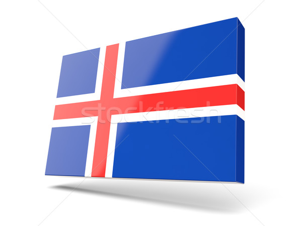 Square icon with flag of iceland Stock photo © MikhailMishchenko