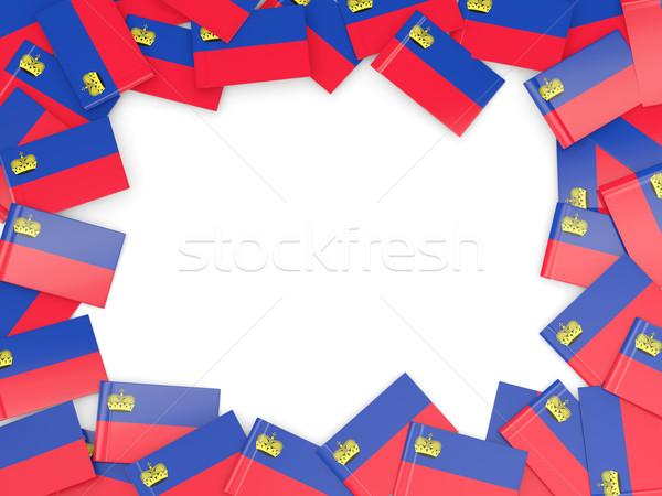 Frame with flag of liechtenstein Stock photo © MikhailMishchenko
