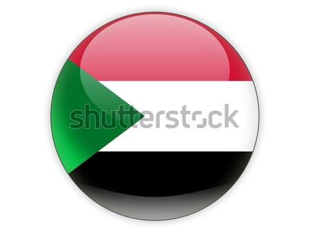 Ikona banderą Sudan odizolowany biały podróży Zdjęcia stock © MikhailMishchenko
