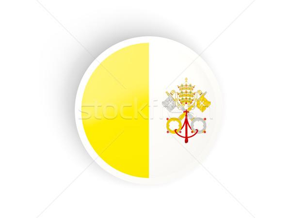 наклейку флаг Ватикан изолированный белый путешествия Сток-фото © MikhailMishchenko