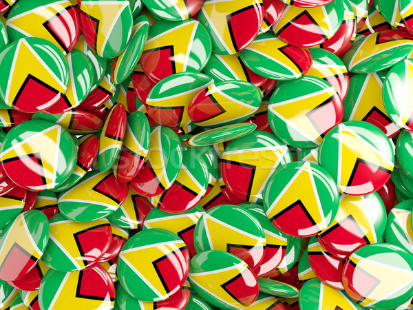 Vlag Guyana achtergrond land pin cirkel Stockfoto © MikhailMishchenko