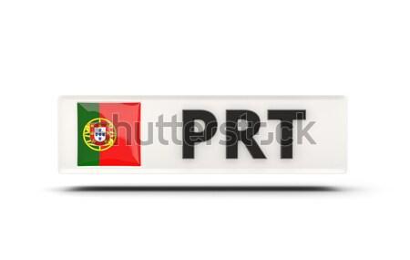 ストックフォト: 愛 · ポルトガル · にログイン · 孤立した · 白 · フラグ