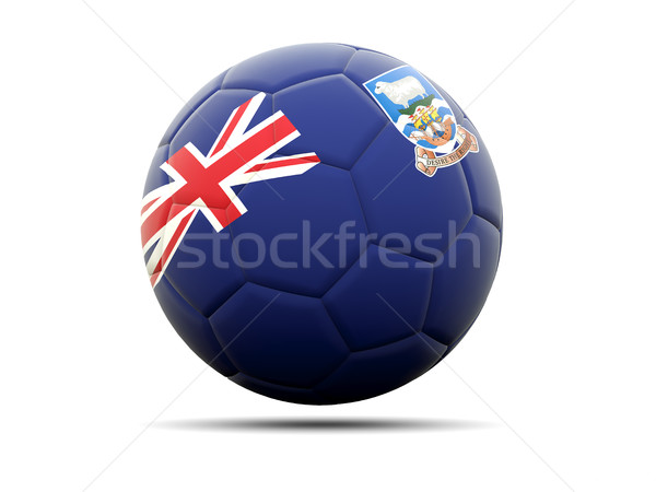 Football with flag of falkland islands Stock photo © MikhailMishchenko