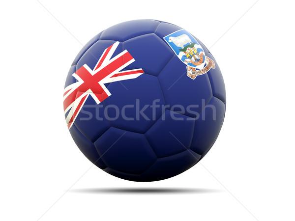 Futball zászló Falkland-szigetek 3d illusztráció futball sport Stock fotó © MikhailMishchenko