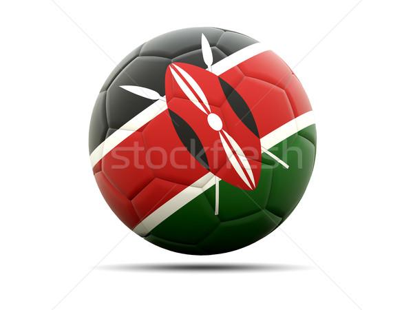 Futball zászló Kenya 3d illusztráció futball sport Stock fotó © MikhailMishchenko