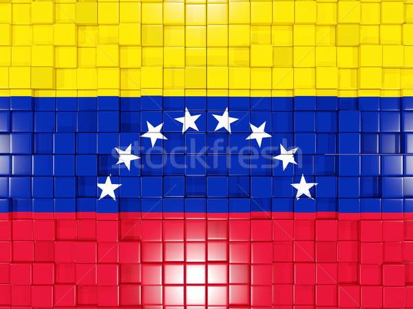 Tér alkatrészek zászló Venezuela 3d illusztráció mozaik Stock fotó © MikhailMishchenko