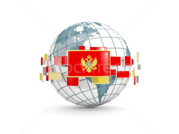 Сток-фото: мира · флаг · изолированный · белый · 3d · иллюстрации · карта