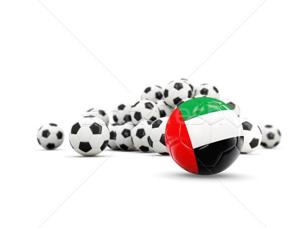 футбола флаг арабских изолированный белый 3d иллюстрации Сток-фото © MikhailMishchenko