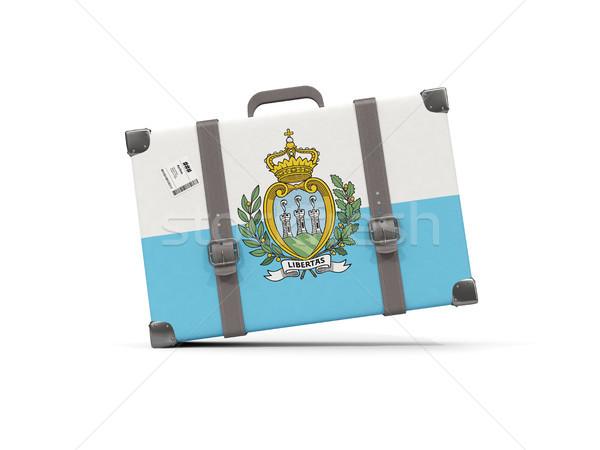 Камера флаг Сан-Марино чемодан изолированный белый Сток-фото © MikhailMishchenko